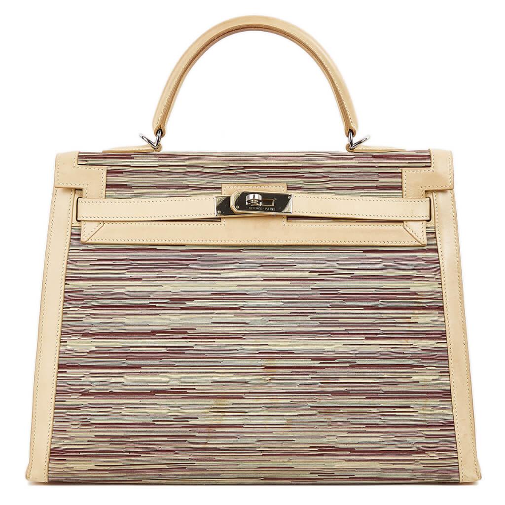買取実績|エルメス ケリー35 外縫い ボックスカーフ ヴィブラート ベージュ シルバー金具【2020.11.22】