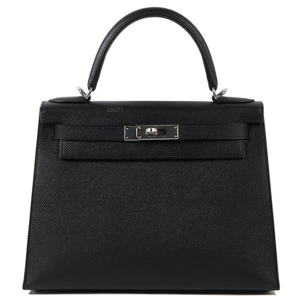 買取実績|エルメス ケリー 28 外縫い エプソン ブラック シルバー金具【2021.03.19】