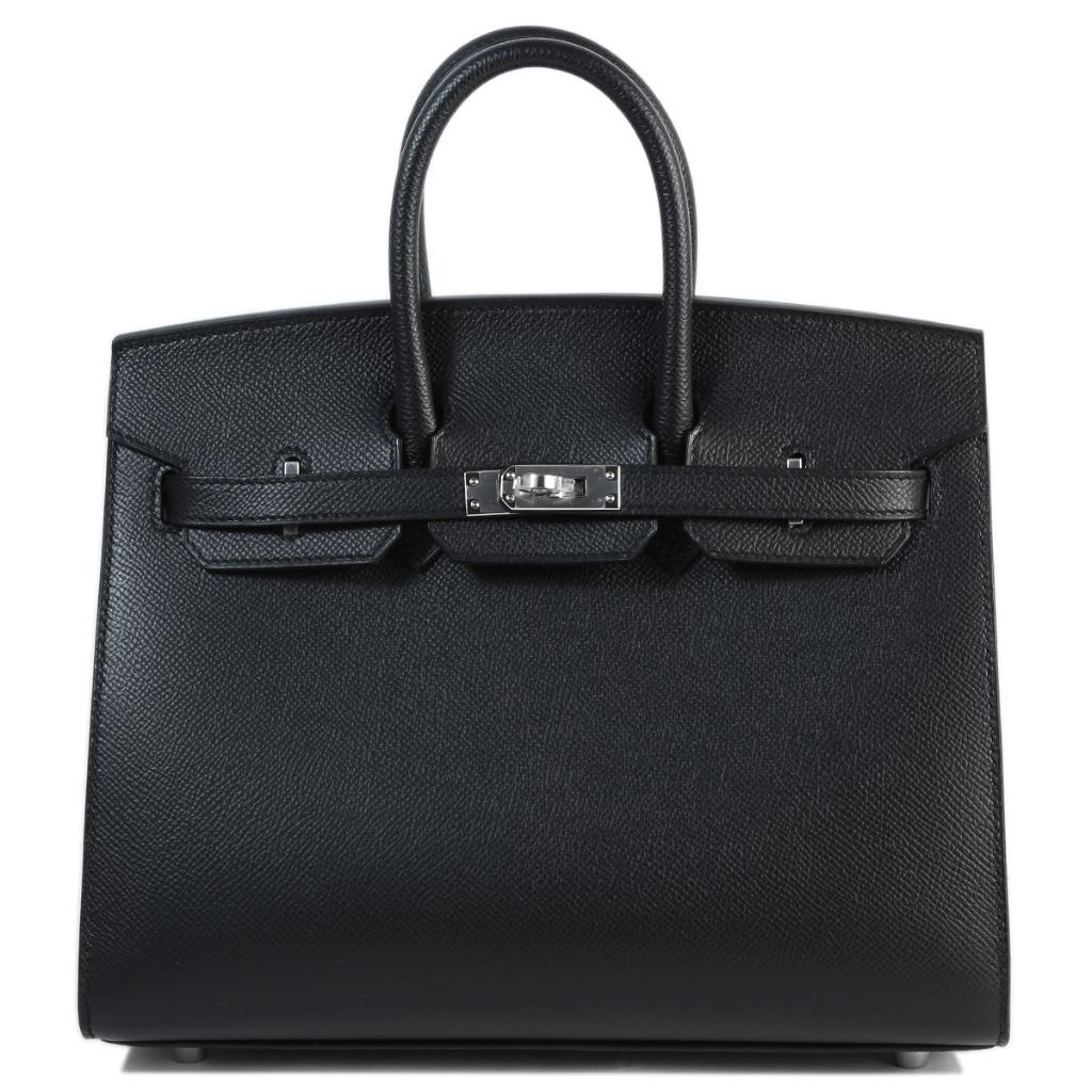 買取実績|エルメス バーキン 25 セリエ 外縫い エプソン ブラック シルバー金具【2021.08.07】